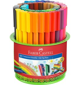Faber-Castell - Cubilete con 45 rotuladores Connector