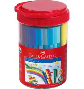 Faber-Castell - Cubilete con 50 rotuladores Connector
