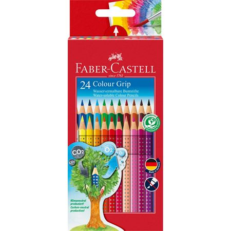 Faber-Castell - Estuche cart. 24 lápices Colour Grip