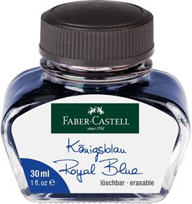 Faber-Castell - Tintero, 30 ml, azul real borrable
