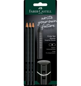 Faber-Castell - Grip 2001 Juego negro blister