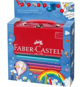 Faber-Castell - Maletin escolar 18 lápices color Jumbo Grip