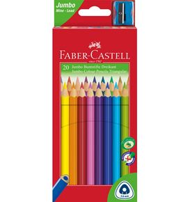 Faber-Castell - Lápiz de color triangular Jumbo x20