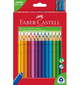 Faber-Castell - Lápiz de color triangular Jumbo x30
