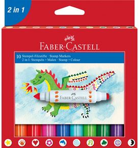 Faber-Castell - Pack c/10 rotuladores 2 en 1
