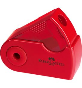 Faber-Castell - Sacapuntas simple Sleeve Mini rojo/azul